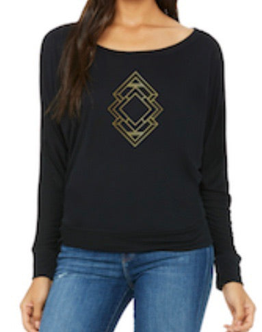 Triangle Slouchy Long-sleeve