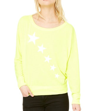 Neon Bright Star Long Sleeve