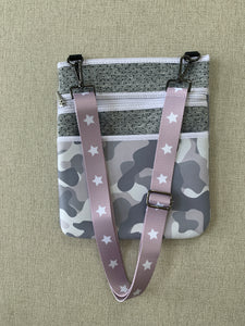 Gray Camo Crossbody Bag