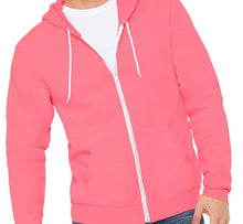 Load image into Gallery viewer, Pink Full Zip Hoodie