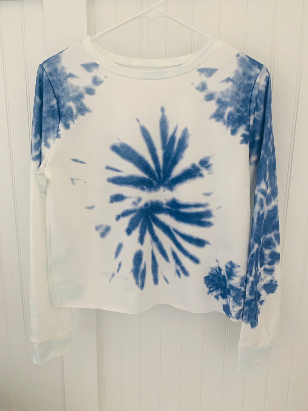 Navy Tie Die Long Sleeve