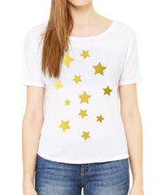 Load image into Gallery viewer, Open Back Gold Star Tee