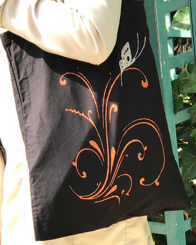 "Sac ""Arabesque et papillon"""