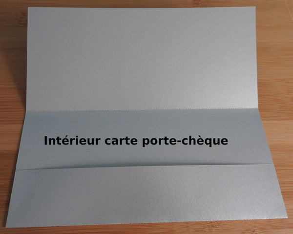 "Carte Double jeu ""Flocon"""