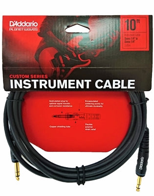 D'Addario Custom Series Instrument Cable, Stereo, 10 feet, PW-GS-10