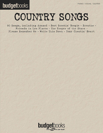COUNTRY SONGS Budget Books