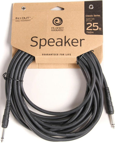 DAddario Planet Waves 25' Classic Series 1/4 Speaker Cable PW-CSPK-25