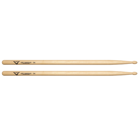 Vater VH5AW Los Angeles 5A Wood Tip Hickory Drum Sticks, Pair