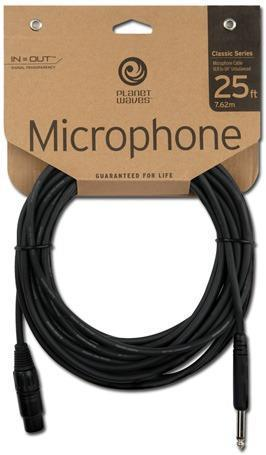 "DAddario Planet Waves 25 ft. Classic Microphone Cable XLR Female - 1/4"" PW-CGMIC-25"
