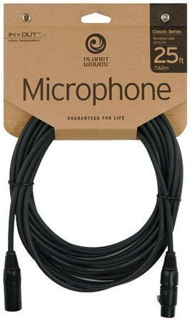 DAddario Planet Waves Classic Series Microphone Cable, 25 feet