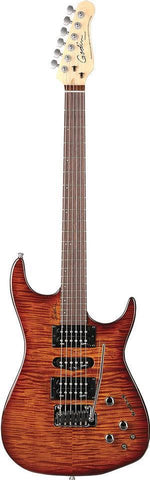 Godin Freeway SA Electric Guitar in Flame Maple Leaftop Lightburst