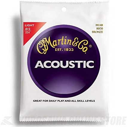 Martin M140 80/20 Bronze Round Wound Acoustic Strings - Light