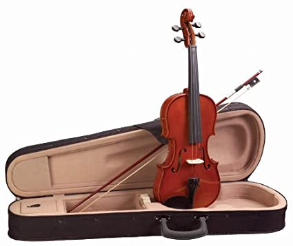 Academy 3/4 size violin outfit set, Polished red-gold gloss (145AU)