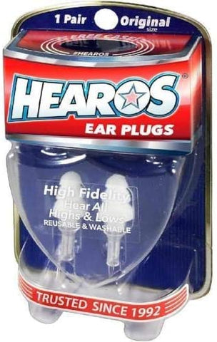 HEAROS High Fidelity Musician Ear Plugs Ultimate In Comfortable And Hearing Protection Professional Musicians Earplugs Noise Cancelling Earplugs For Concerts Motorcyclists Loud Events (1 Pair), 211