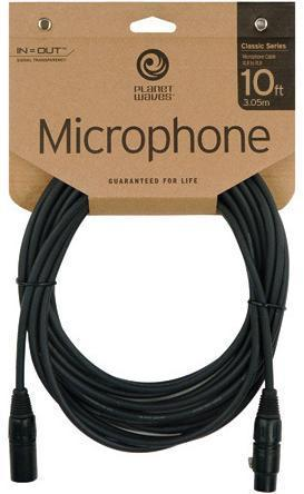 DAddario Planet Waves Classic 10' Microphone Cable PW-CMIC-10
