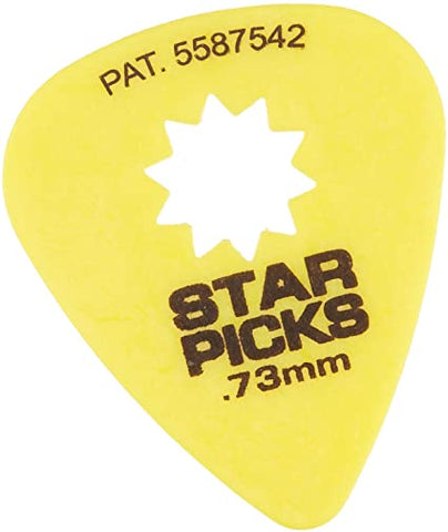 Everly Guitar Star Picks - 12 picks pack - 0.73 mm - 30023