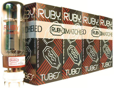 Ruby Tubes EL34BSTR-MQ El34 Ruby Tubes, Matched Quad Set