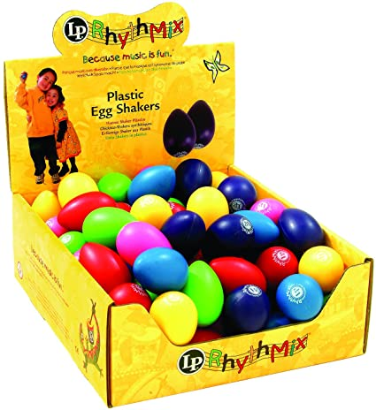 Latin Percussion LPR001BD48-I Rhythmix Plastic Egg Shakers, Assorted Color
