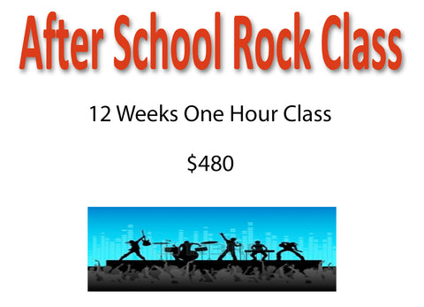 After School Rock Class - 12 Weeks
