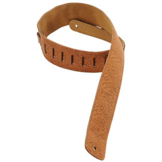 "Levy's Classics Series 2-1/2"" Leather Guitar Strap – DM1FF-BRN"
