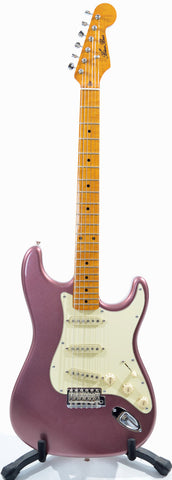 Blue Bus Stratocaster Electric Guitar in Burgundy Mist