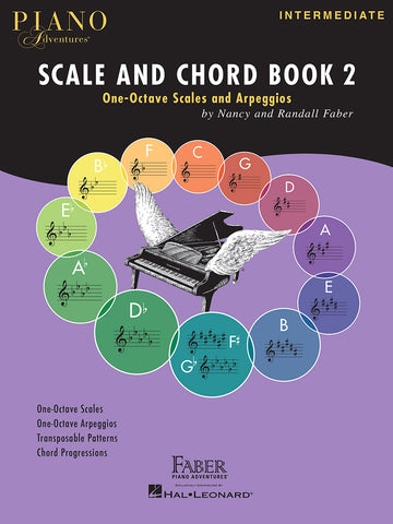 PIANO ADVENTURES SCALE AND CHORD BOOK 2 One-Octave Scales and Chords