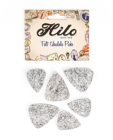 Hilo Felt Ukulele Picks, 6 picks pack, UP6