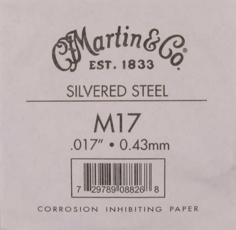 Martin M17 Plain Steel Guitar String - .017