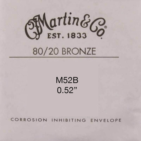 Martin M52B 80/20 Bronze Wound Guitar String - .052