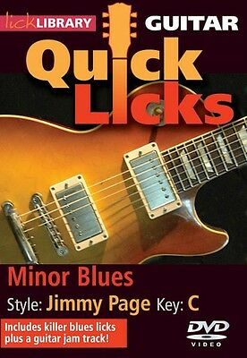 Lick Library Minor Blues Jimmy Page Style Guitar DVD