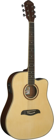 Oscar Schmidt OG2CE Dreadnought Acoustic/Electric Guitar - Natural
