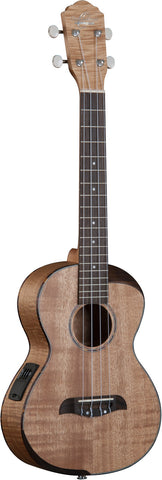 Oscar Schmidt OU800TE Comfort Series Tenor A/E Ukulele, Flame Maple Top