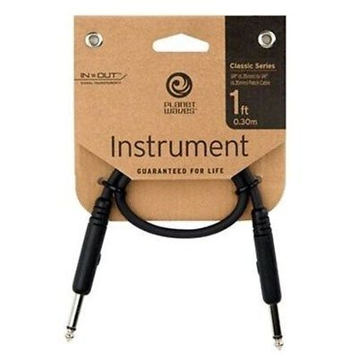 D'Addario Classic Series Patch Cable, Right-Angle, 1 Foot PW-CGTPRA-01