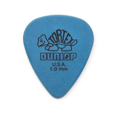 Dunlop 418P.10 Tortex Standard .10mm Blue Guitar Picks 12-Pack