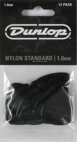Dunlop Nylon Standard 1.0 Black, pack of 12, 44P10