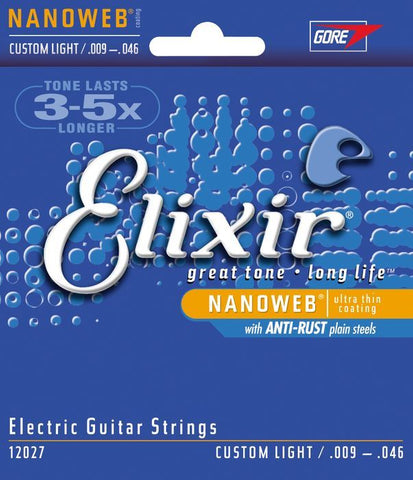 Elixir Strings 12027 Custom Light Nanoweb Electric Guitar Strings