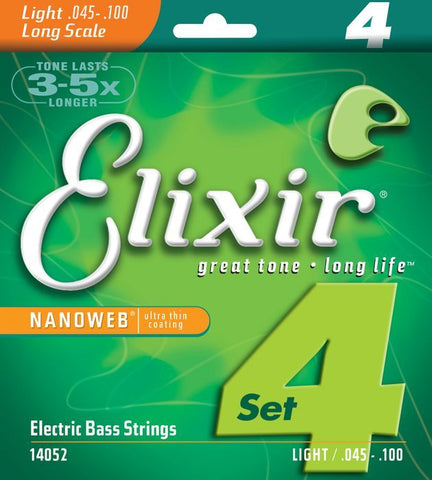 Elixir strings 14052 Bass Guitar strings with Nanoweb Coating