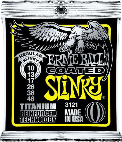 Ernie Ball Coated Electric Titanium RPS Regular Slinky .010 - .046