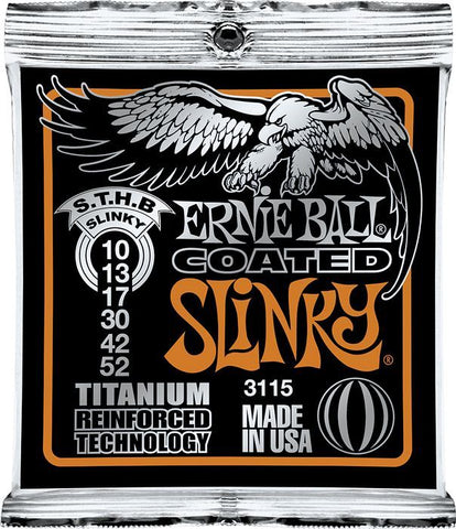Ernie Ball Coated Electric Titanium RPS Skinny Top/ Heavy Bottom Slinky .010 - .052