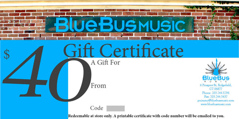 Gift Certificate $40.00