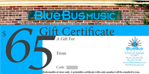 Gift Certificate $65.00