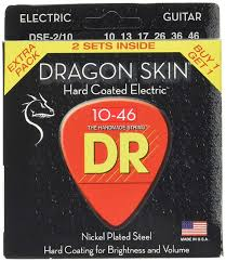 DR Strings DRAGON SKIN Electric Guitar Strings (DSE-2/10) (2-Pack)