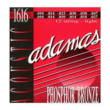 Adamas 12 String Lite 10-47 Acoustic Guitar String Set, 1616