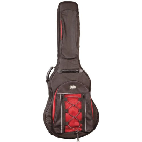 MBT Dreadnought Acoustic Deluxe Red & Black Guitar Gigbag, MBTAGBH