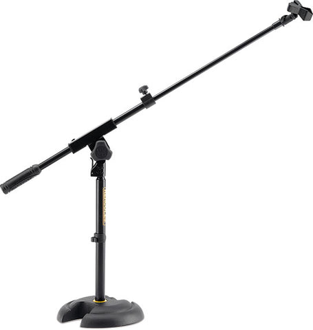 "HERCULES LOW PROFILE ""H"" BASE MIC STAND W/BOOM & MIC CLIP, MS120B"