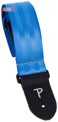 "Perri's Leathers 2"" Blue Seatbelt Guitar Strap, 1697"
