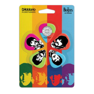 D'Addario Sgt. Pepper's Lonely Hearts Club Band 50th Anniversary Medium Gauge Guitar Picks, 1CWH4-10B6