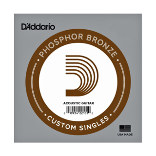 D'Addario PB025 Phosphor Bronze Wound Acoustic Guitar Single String, .025