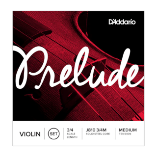 Prelude Violin String Set, 3/4 Scale, Medium Tension J810 3/4M