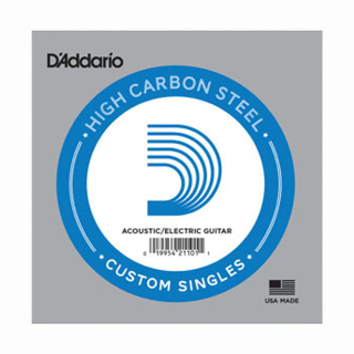 D'Addario PL024 Plain Steel Guitar Single String, .024